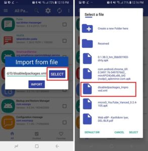 Uninstall Carrier/OEM Bloatware Without Root Access by Importing XML to disable bloatware samsung apps