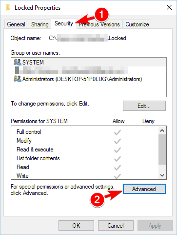 Folder Access Denied. You Need Permission To Perform This Action 2