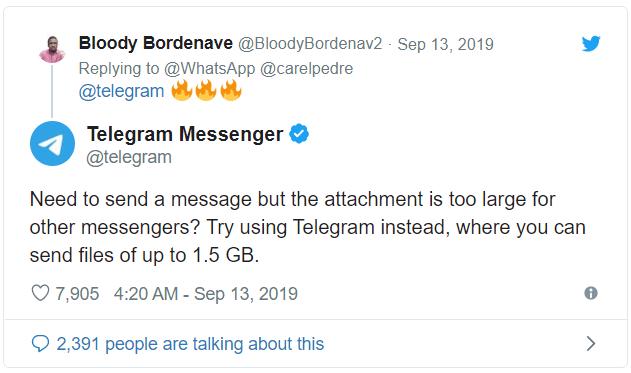 whatsapp vs telgeram