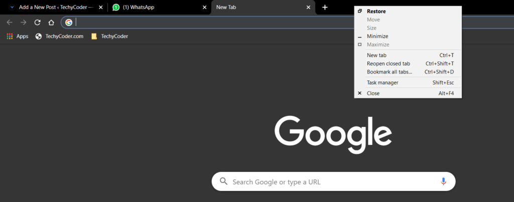 reopen closed tab google chrome