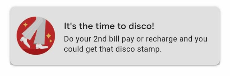 Google Pay 2020 cake offer disco stamp
