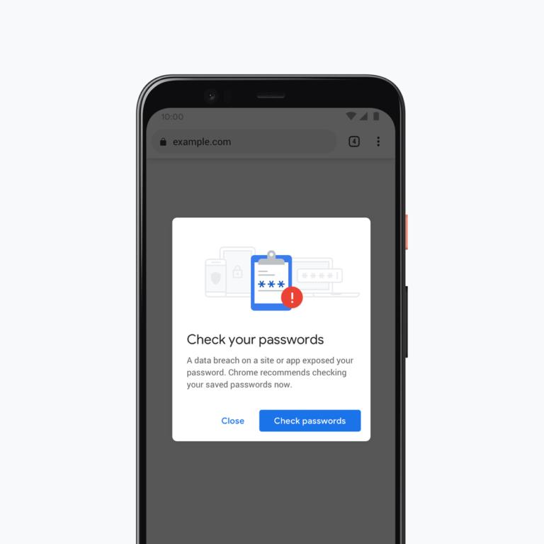 Google chrome check your passwords, google chrome, password breach warning