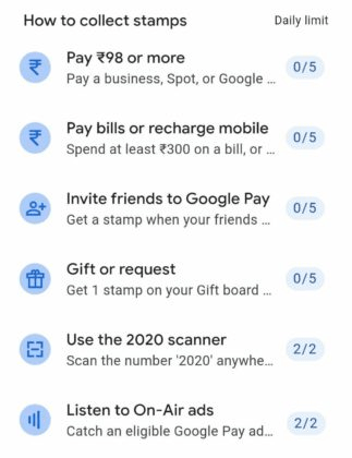 Google pay 2020, 6 official method