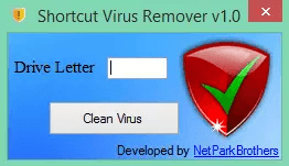 Shortcut Virus Remover v1.0, fix usb shortcut virus, how to remove shortcut virus