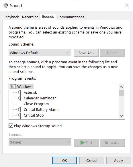 startup sound in windows 10, windows 10, startup sound, windows 10 startup sound