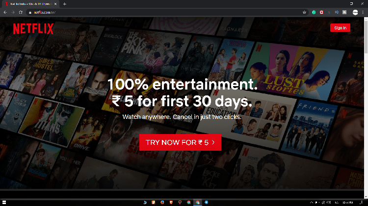 Netflix India Is Testing/ Offering the First Month at Just Rs 5