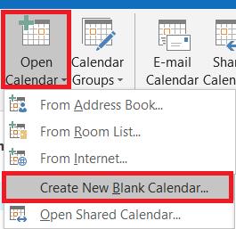 adding calendar to outlook