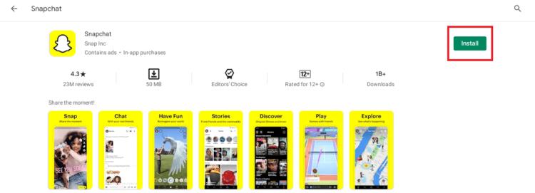 Snapchat install on chromebook