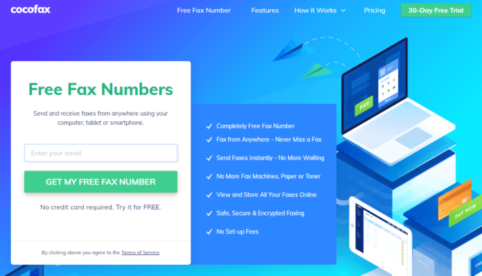 cocofax - free fax numbers