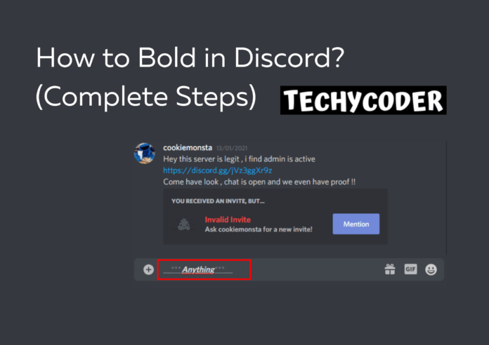 how to bold text in discord